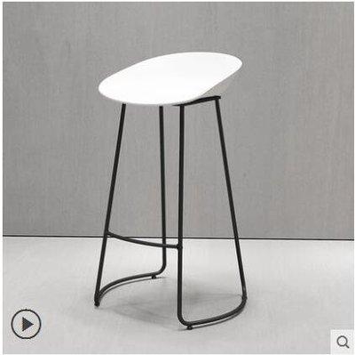 北歐鐵藝創意簡約時尚酒吧臺椅凳子休閒咖啡廳前臺高腳凳設計師椅LX