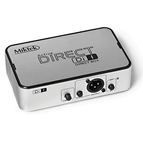 《民風樂府》美國品牌Miktek DI-1 訊號轉換盒 音質出眾 功能便利 最超值的DI BOX 錄音作場都適用