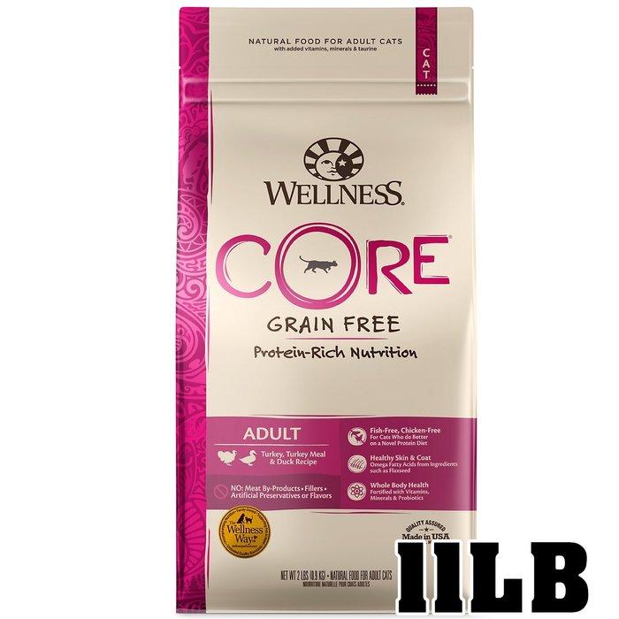 COCO《免運+送280》寵物健康Wellness無穀成貓田園(火雞+鴨肉)11磅(4.9kg)天然飼料WDJ推薦