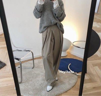 (現貨+預購)慵懶顯瘦百搭寬褲西裝褲