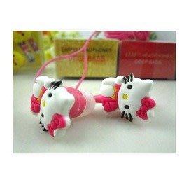 卡通版入耳耳機 熊兔貓猴等可愛動物耳機 MP3耳機-5601007