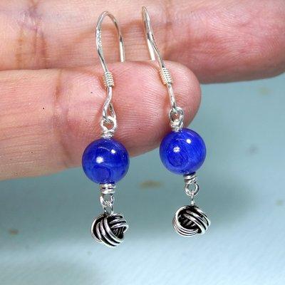 【善觀手作精品】耳環 藍晶石 925銀飾 寶石 手工 手創 飾品 首飾