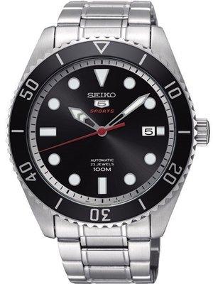【金台鐘錶】SEIKO精工 復刻 5號盾牌機械錶 潛水表(日本版) (黑水鬼) 44mm SRPB91J1