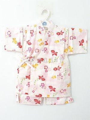 ✪胖達屋日貨✪褲款 110cm 米底 金魚 水草 櫻花 日本 女 寶寶 兒童 和服 浴衣 甚平 抓周 收涎 攝影