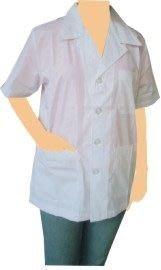 ☆°萊亞生活館 ° 半身工作服.半短醫師服.藥師服.醫師短袍【A158 薄/TC布-白色-短袖】