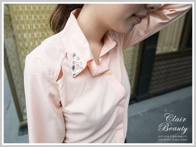襯衫 歐美時尚領口華麗寶石美背設計襯衫 【U1067】☆雙兒網☆ City mood
