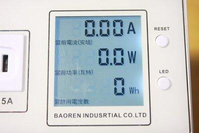 節電小秘書:電流:功耗瓦數:時段累計用電度數/可歸零(瑕疵品出清)