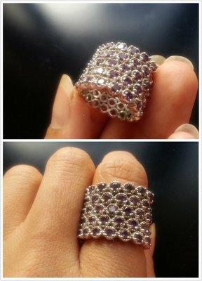 【山玉軒】 韓國精品設計師款~精緻設計 《紫水晶戒指》【下標即售】