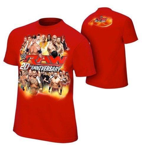 ☆阿Su倉庫☆WWE摔角 RAW 20th Anniversary T-Shirt RAW20週年紀念衣 熱賣特價中