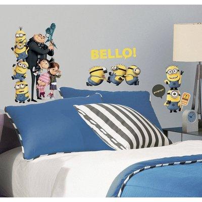 【現貨】Qutie.B ❤ 美國Roommates 壁貼 ❤ 小小兵 Minions_R3000