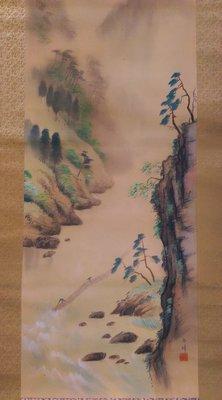 【藏家釋出】 收藏日本早期書畫 ◎ L-110-19-20世紀書畫作品《因年代久遠所以破損蟲蛀...等》