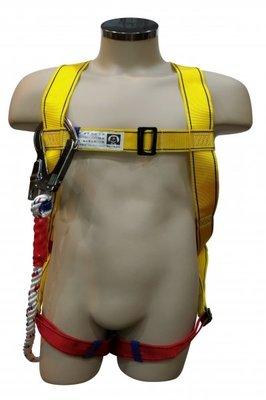 貝爾 單大鉤 背負式安全帶 降落傘式安全帶 全身式安全帶 單鉤 國家標準檢驗 CNS14253 工安 高空作業 安全帶