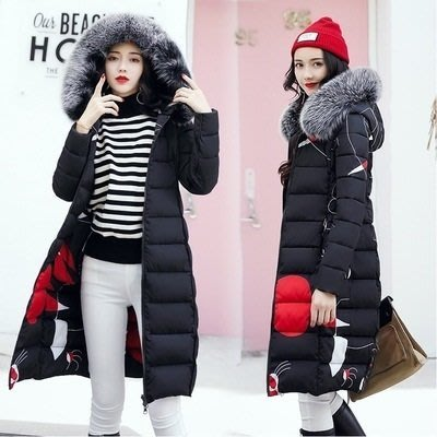 羽絨外套 連帽夾克-長款可兩面穿毛領女外套5色73pa9[獨家進口][米蘭精品]