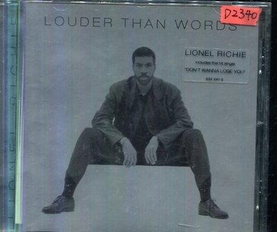 *還有唱片四館* LIONE RICHIE / LOUDER THAN WORDS 二手 D2340