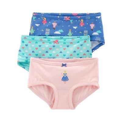 【Carter's】CS女童內褲3件組 藍綠粉 F03191016-31