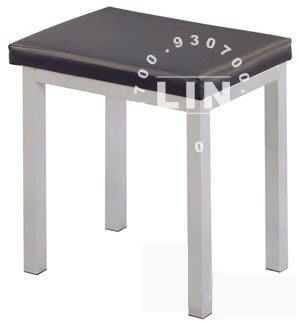 【品特優家具倉儲】784-07餐椅單人鐵管凳皮面