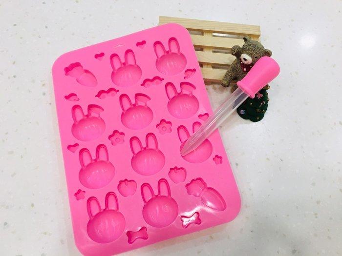 *愛焙烘焙* 焙蒂絲 Betty′s 兔子28連矽膠模 SM101 附滴管 耐熱矽膠 製作果凍 軟糖 巧克力模 附滴管