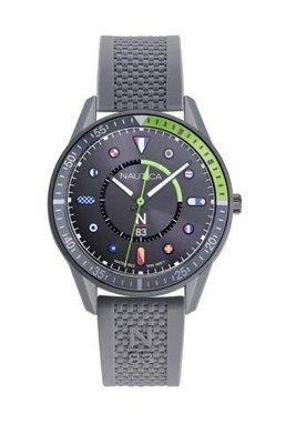 Nautica 男士手錶 NAPSPS902 Surf Park 43毫米 灰色錶盤 矽膠手錶