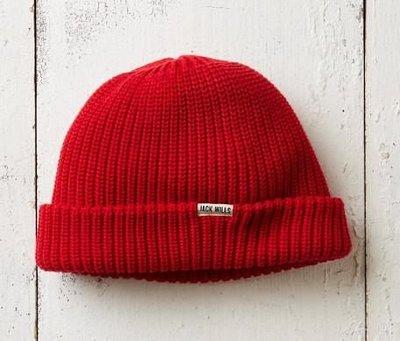 MISHIANA 英國休閒品牌 JACK WILLS 女生款紅色棉質針織毛帽 ( 新款上市.特價出售 )