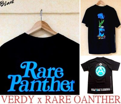 BLACK極新VERDY x RARE PANTHER wasted youth蘭花GIRLS DONT CRY黑色短T