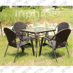 INPHIC-編藤家具 戶外家具 組合家具 編藤桌椅 戶外桌椅 五件套