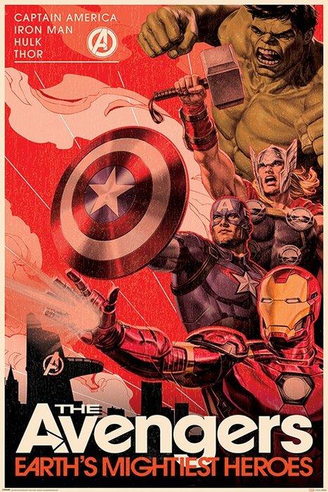 英國進口海報 PP34480 (復仇者聯盟 Avengers (Golden Age Hero Propaganda))