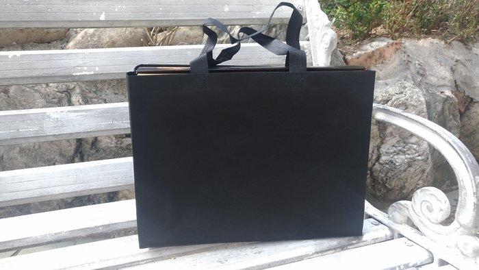 現貨新款黑 不織布袋 每個7元滿1000免運 精美紙袋 購物袋 服飾袋 手提袋35*10*25cm每包50個350元無零售