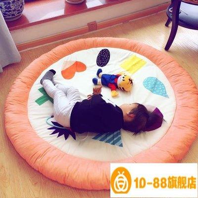 卡通圓形寶寶地墊榻榻米臥室加厚床邊地毯兒童爬行墊遊戲毯 YXS~尾牙鉅惠【10-88】