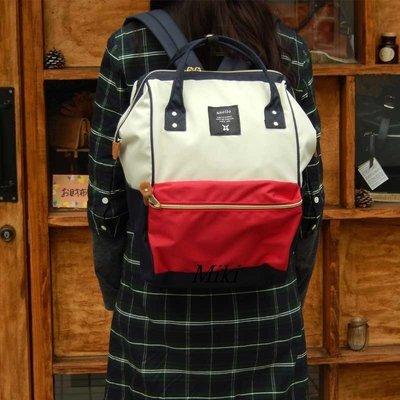 *Miki日本小舖*日本超人氣anello手提 背包 超大容量雙肩後背包 媽媽包~白藍紅混色*現色優惠出清價* 台南市