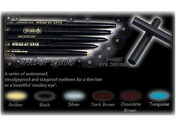 ☆彩妝大師☆荷蘭專業彩妝make-up studio 防水眼線筆 共9色 可旋轉 附削筆器