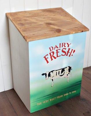~Cotton Milk 雜貨散步~ 日本鄉村雜貨---DAIRY MILK原木收納箱(出清價)