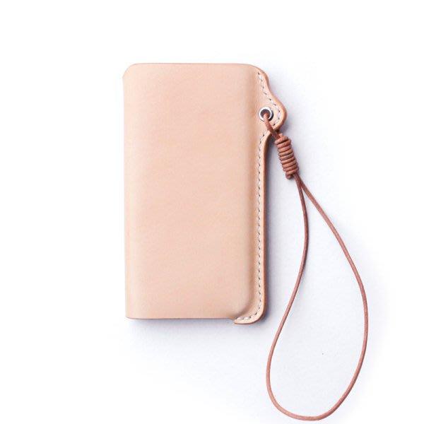 [ UNIDO ] 原創手作 簡約時尚頭層植鞣牛皮 手工套繩手機皮套/iPhone
