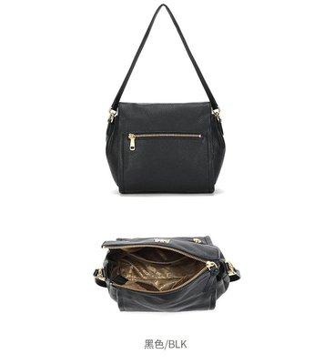 (展示品出清)香港 Salad 新款真皮側背包+手提包~~~神秘黑