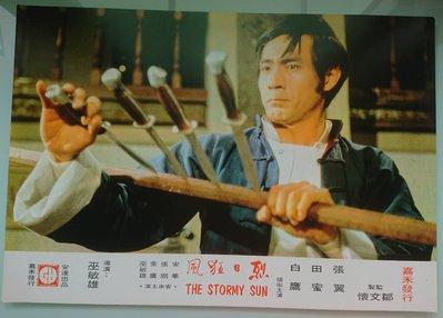 烈日狂風 (The Stormy Sun) - 張翼、田蜜、白鷹 - 香港原版電影劇照1組2張 (1973年)