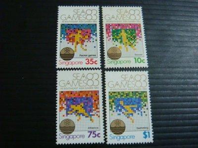 【大三元】新加坡郵票- SP102東南亞運動會郵票~1983年發行~新票~~原膠3全1套