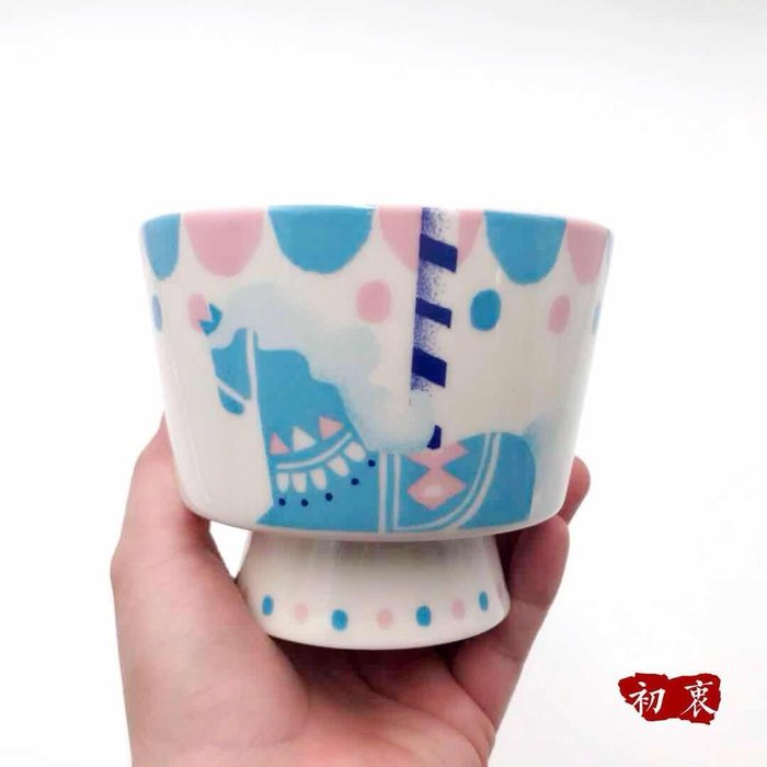 水杯 保溫杯星巴克杯子兒童節禮物游樂場夢幻粉嫩旋轉木馬陶瓷糖果餅干碗