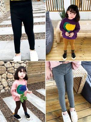 女童裝彈力修身打底長褲春秋新款2019年1-3-6歲小女孩休閑韓