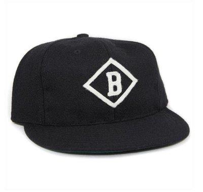 全新 現貨 Ebbets field flannels B vintage 老帽 羊毛 棒球帽 軟帽簷 調節式 復古 街頭 經典 黑