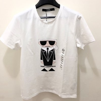 【ROZA代購】KARL LAGERFELD 卡爾拉格斐老佛爺白、黑短T恤