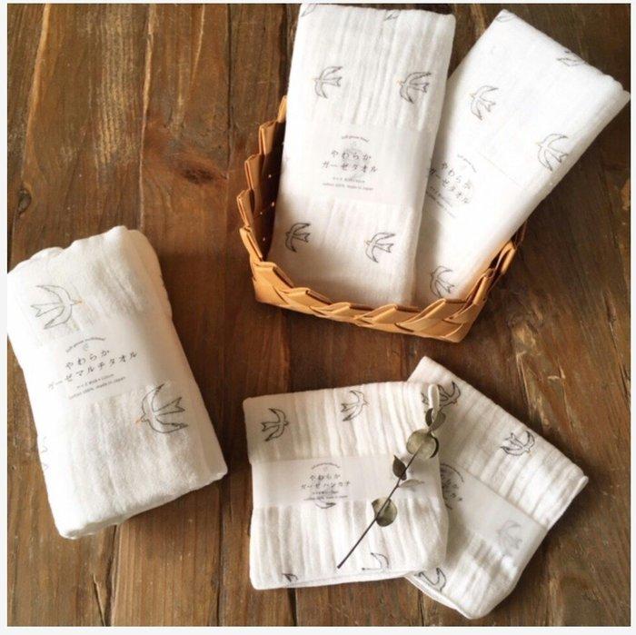 天使熊雜貨小舖~日本帶回2重紗純棉毛巾 日本製  100綿 全新現貨
