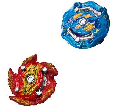 戰鬥陀螺 B153 藍宇宙聖龍 紅滅絕魔龍  結晶上盤