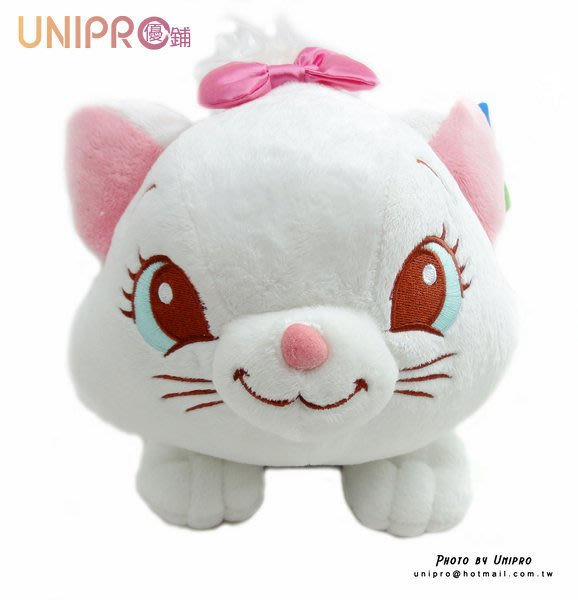 【UNIPRO】迪士尼 瑪麗貓 Disney Marie    趴姿 造型 絨毛 面紙套 造型立體 正版授權