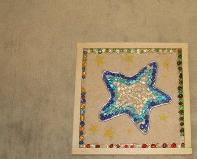 美勞作品 星星圖案 木頭裝飾品 裝飾品