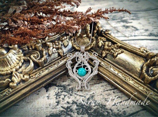 【亮穎晶石 -Shiny-】~天河石金工繞線~ 墜子 不含項鍊/ 天河石  希望之石 / 999純銀 / 設計款水晶首飾