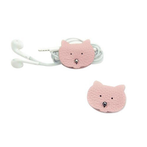 C'est Si Bon|【現貨。免運】真皮粉色造型捲線器-粉紅貓