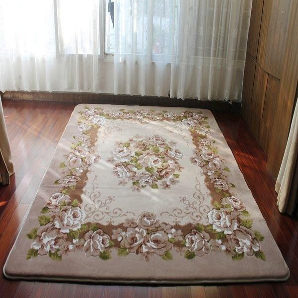 粉紅玫瑰精品屋~手工剪花地毯.臥室地毯..時尚加厚地毯-駝色~現貨+預購