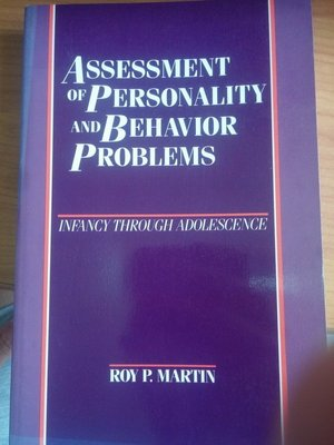 (20《Assessment of Personality and Behavior Problems》些微泛黃