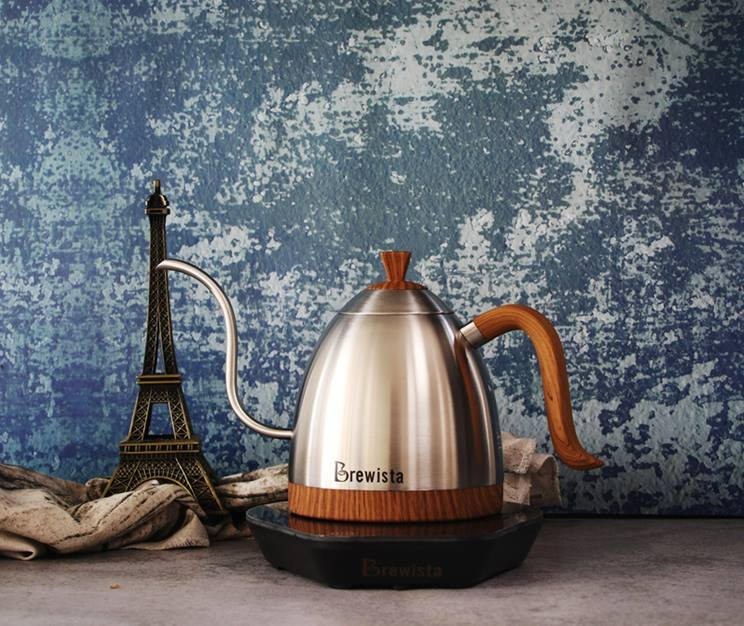 Brewista Artisan 600ml細長嘴可調溫不銹鋼電水壺 (銀色).手沖師比賽專用壺 (免運費)