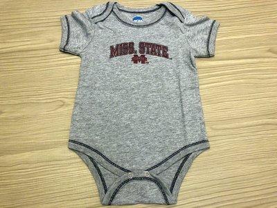 JFK 美國NCAA Mississippi State University 幼童短袖連身裝 包屁衣 6-9m