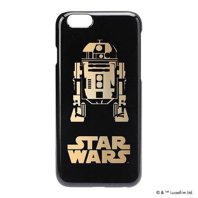 尼德斯Nydus~* 日本正版 迪士尼 星際大戰 硬殼 手機殼 黑底燙金 R2D2 4.7吋 iPhone6